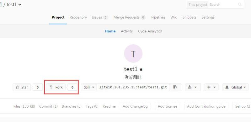 GitLab从主目录Fork到自己空间
