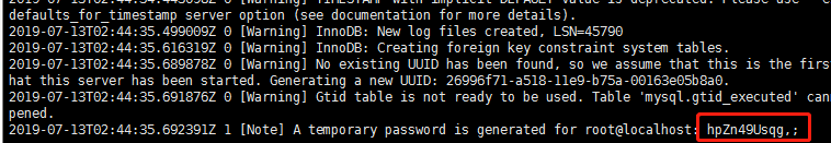 linux下mysql的tar包安装